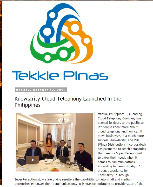 Knowlarity: Cloud Telephony Launched In the Philippines